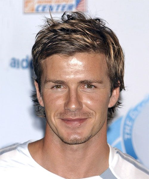 David Beckham razored haircut