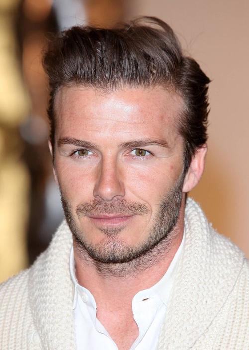 David Beckham disheveled hairstyle