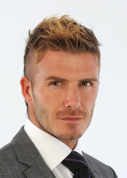 David Beckham edgy hairstyle