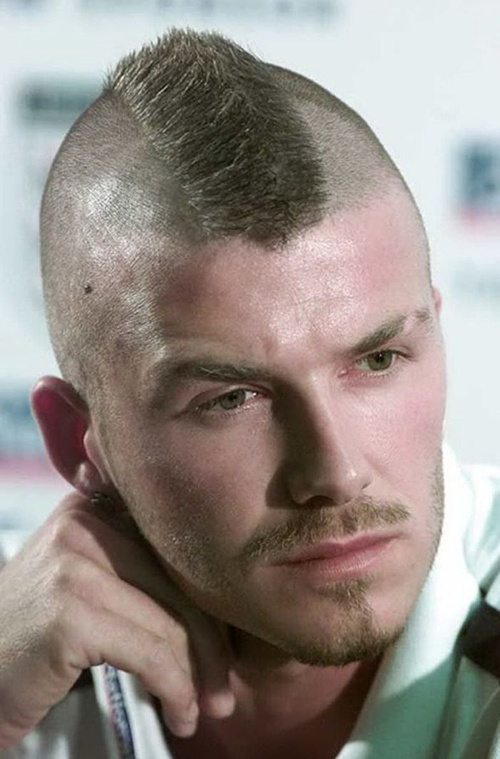 David Beckham mohawk