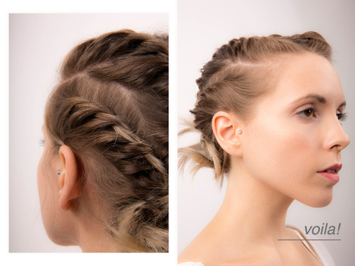Easy Updo For Medium Hair With A Chain Braid