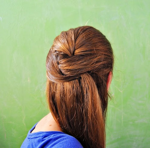 chic half updo for thick hair