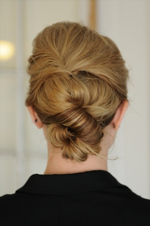 quick S roll updo