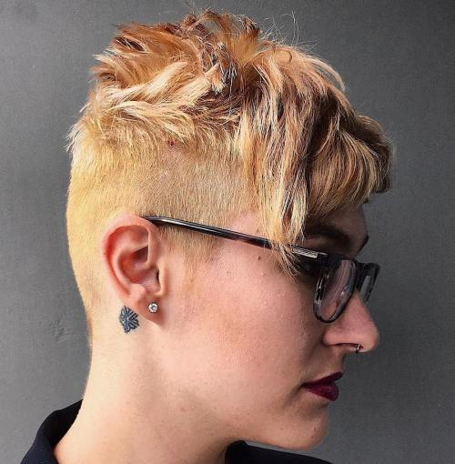 Undercut Haircut With Choppy Top