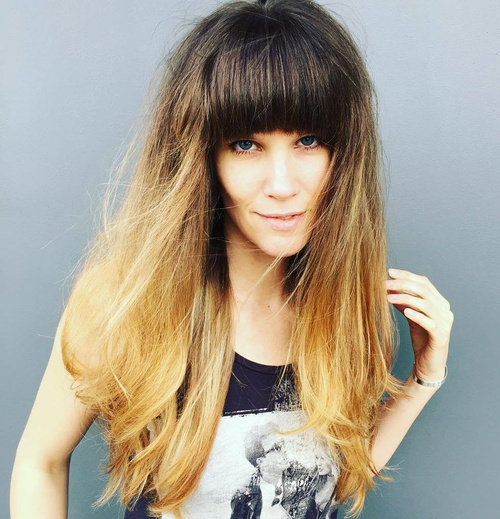 Long Hairstyle With Arched Bangs