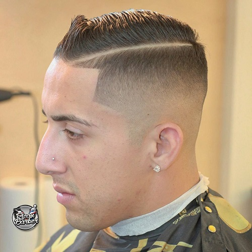 Side Part Fade For Thin Hair
