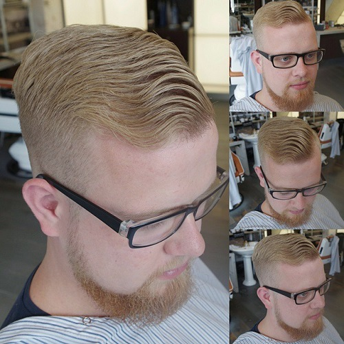 men's long top short sides hairstyle for wavy hair