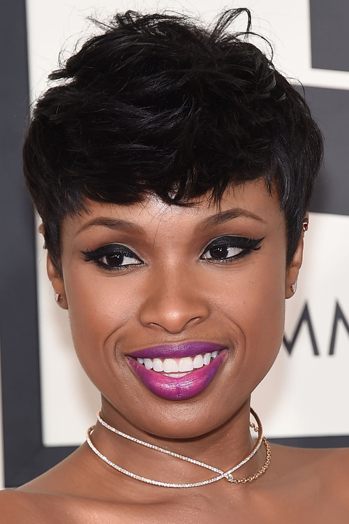 Pixie haircut with bangs for Africam American women