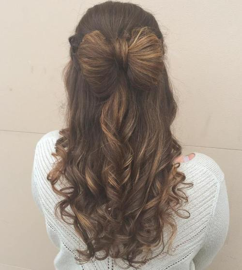 Hair Bow Half Updo