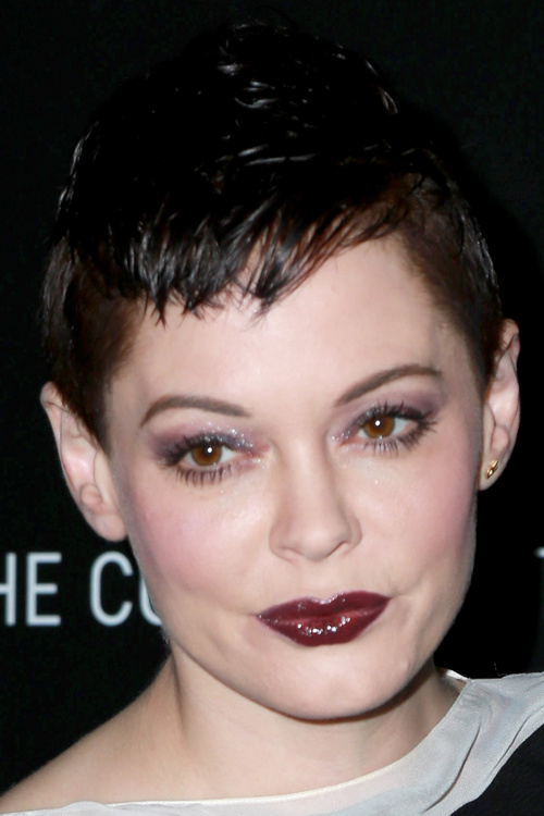 extra short pixie haircut with bangs
