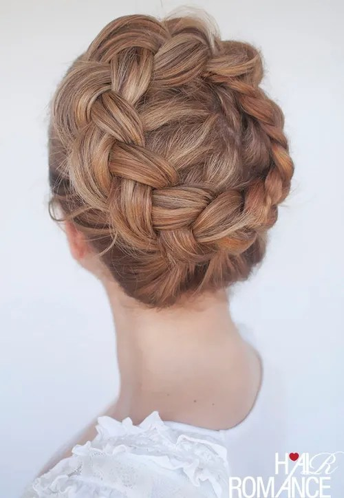 pretty crown braid updo