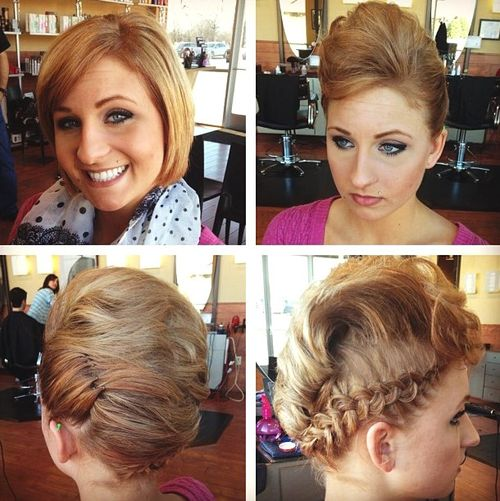 updo for bob length