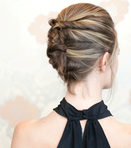 French twist updo for short hair