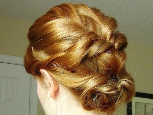French braid side bun