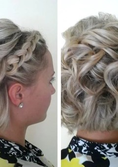 curly bob with a lace braid