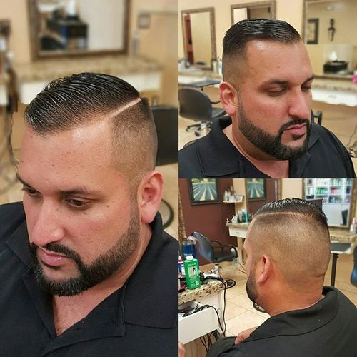 shaved sides hairstyle for receding hairline