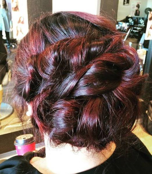 Messy Updo For Long Thick Hair