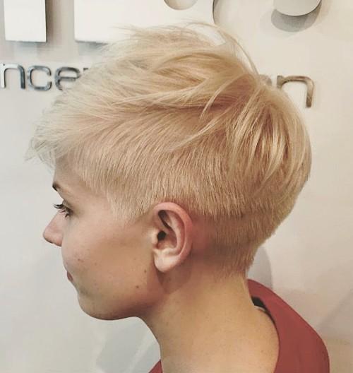 short spiky asymmetrical haircut