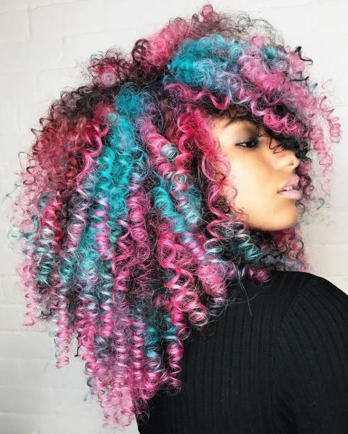 Natural Pastel Blue And Pink Hair