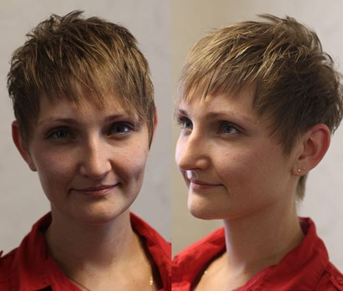 women's short spiky hairstyle for fine hair