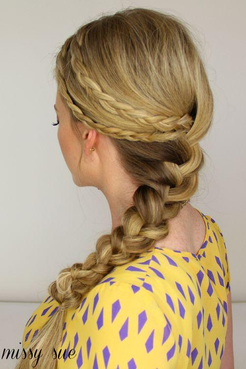 2 strand twist hairstyles : double braid braided hairstyle