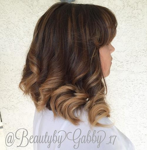Wavy lob for thick hair