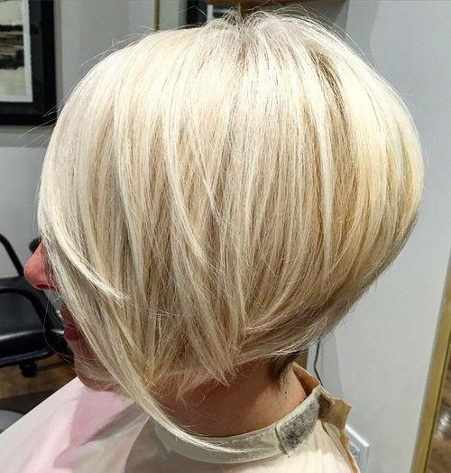 ... length bob with side bangs medium stacked bob hairstyles short stacked