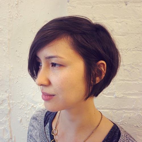 Amateur short hair