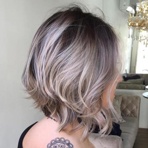 Brown And Ash Blonde Bob
