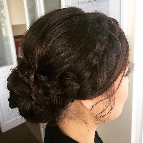 Chignon With A Headband Braid