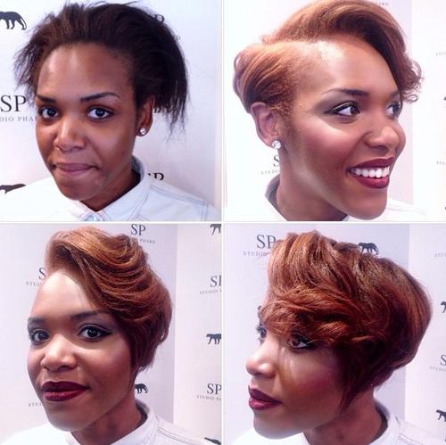 Short wavy  bob for black women