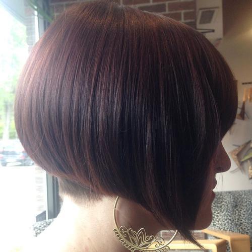 Short Bob Hairstyles Layered Stacked Wavy Angled
