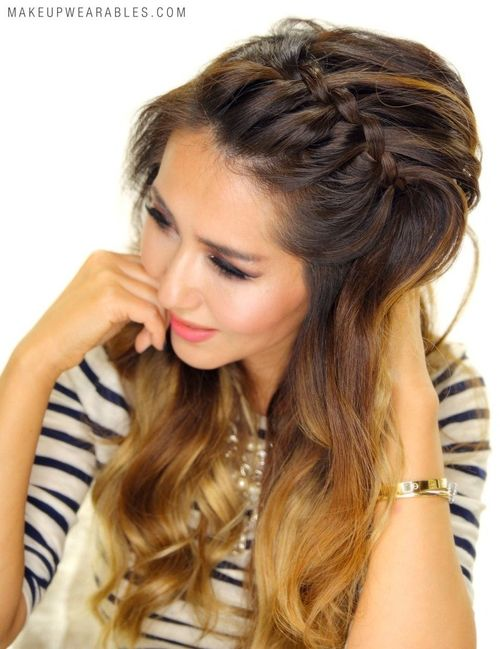 waterfall braid as braided headband