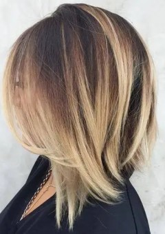 9-angled-dark-brown-lob-with-blonde-balayage