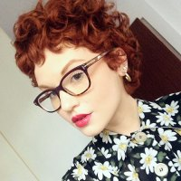red curly pixie