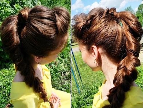 long braided ponytail