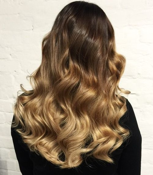 brown to golden blonde ombre