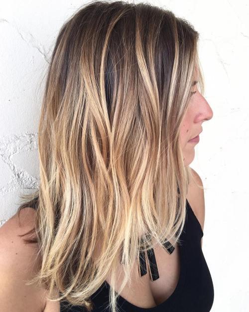 Dark Hair With Caramel Blonde Balayage