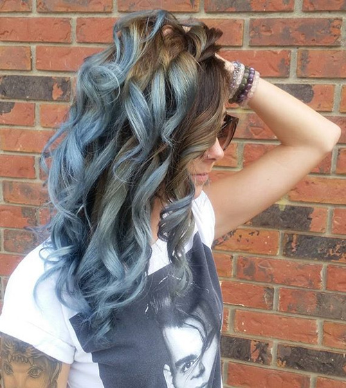 brown t blue-gray ombre