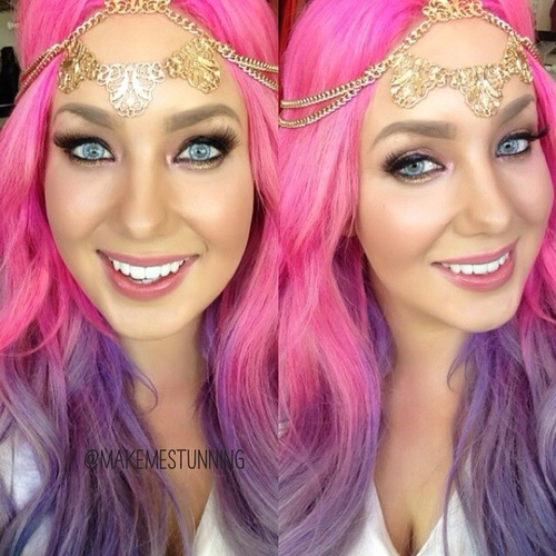 pink to purple ombre