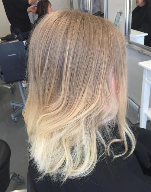 ombre highlights for ash blonde hair