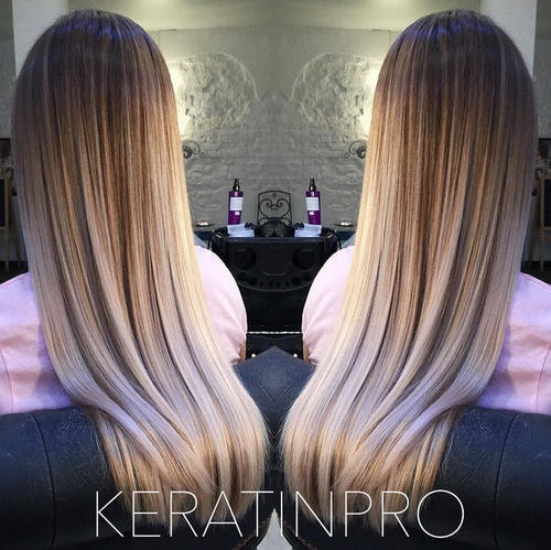 brown to blonde ombre for long thick hair