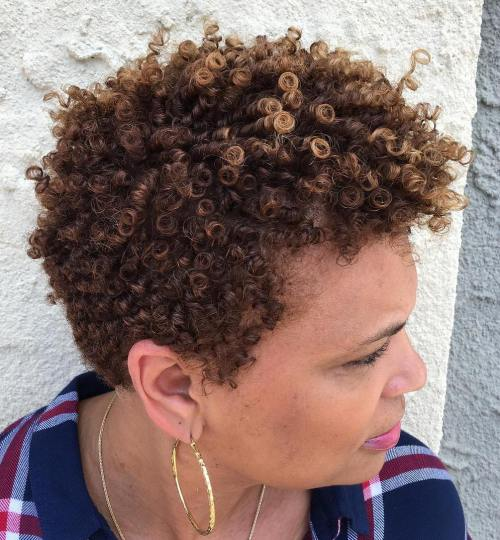 Very Short Natural Hair With Highlights