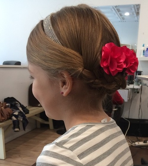 braided updo for girls