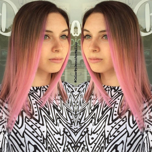 pastel pink ombre for brown hair