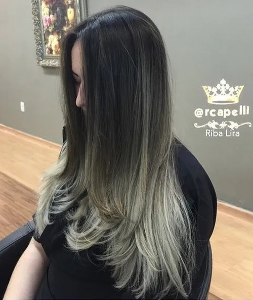 black to blonde ombre