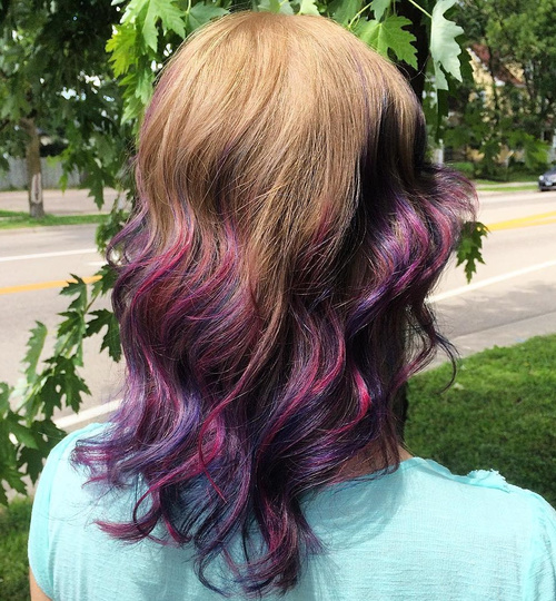 purple ombre highlights for medium brown hair