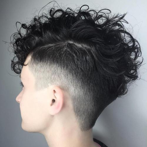 Women's Undercut For Curly Hair