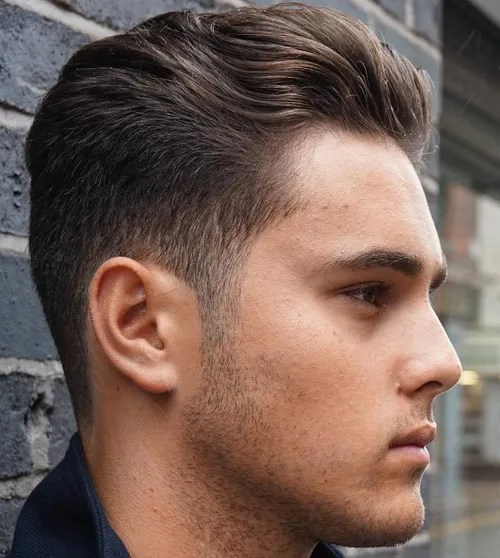 men's tapered haircut for wavy hair