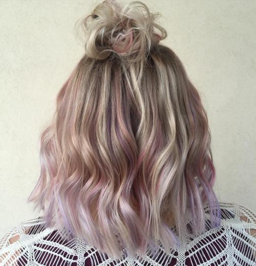 Pastel Pink Dip Dye